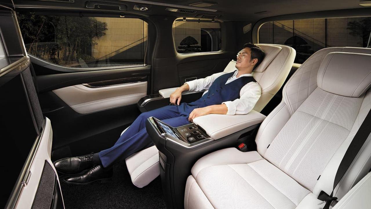 Ghế da cao cấp trên xe Lexus LM350