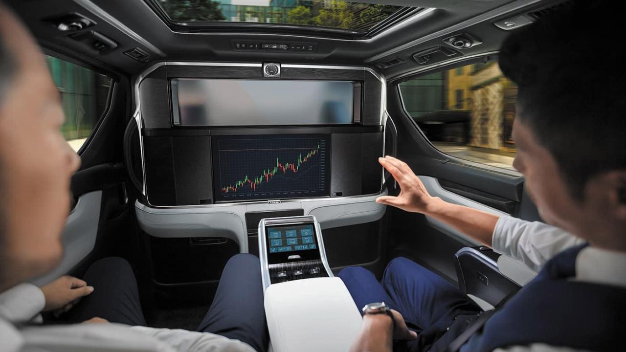 màn hình LCD trên Lexus LM350