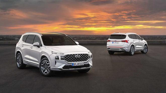 Hyundai Santafe Facelift 2022 đã về đại lý, chờ ngày ra mắt?