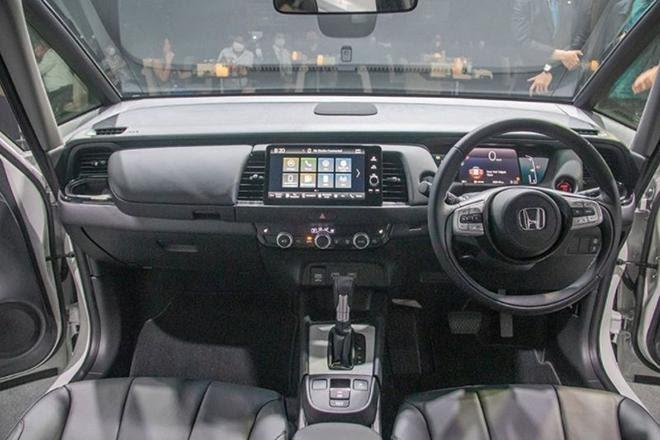 Màn hình cảm ứng 9 inch, vô lăng 2 chấu, màn hình lái kỹ thuật số là những thay đổi bên trong Honda Jazz 2022