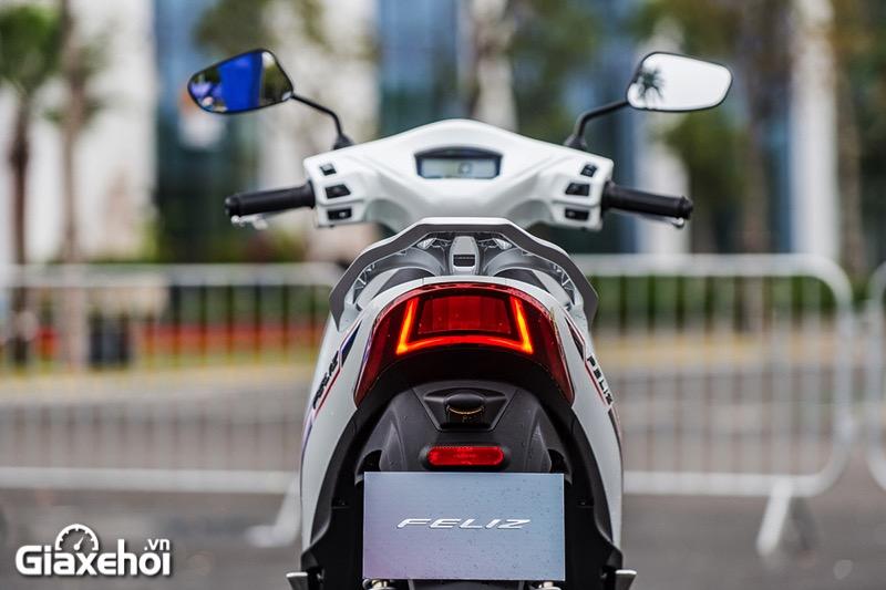 Den hau xe may dien Vinfast Feliz 2021 Giaxehoi vn - Giới thiệu 2 mẫu xe điện Vinfast mới ra mắt - bộ đôi xe máy điện Feliz và Theon