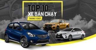 """Top 20 xe bán chạy nhất Việt Nam trong tháng 07/2021: Fadil tiếp tục """"cháy hàng"""", bán nhiều gấp đôi Vios"""