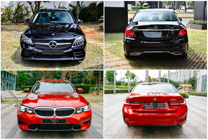 Mua xe sang giá rẻ chọn Mercedes-Benz C180 AMG hay BMW 320i Sport Line?